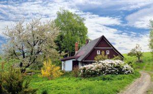 zwei häuser auf einem grundstück